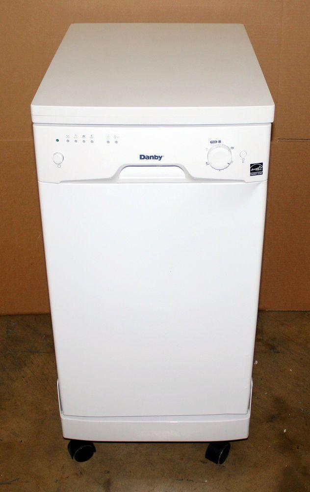 White Danby DDW1801MWP Portable Dishwasher