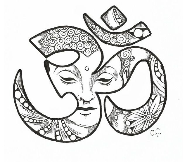 Layout for the Buddha Ohm tattoo