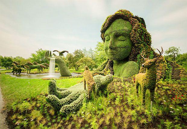 Monumental Plant Sculptures At The 2013 Mosaicultures Internationales De  Montréal Plants Gardening, Canada