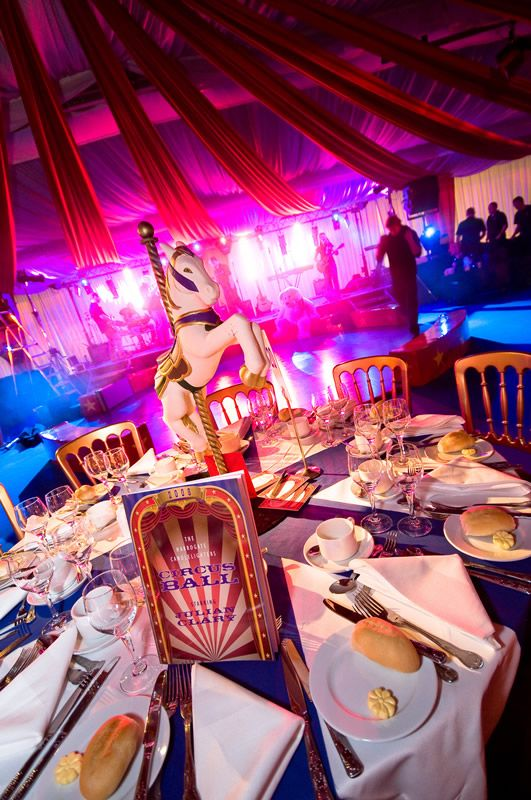 circus circus themed party - charity ball - the Angels