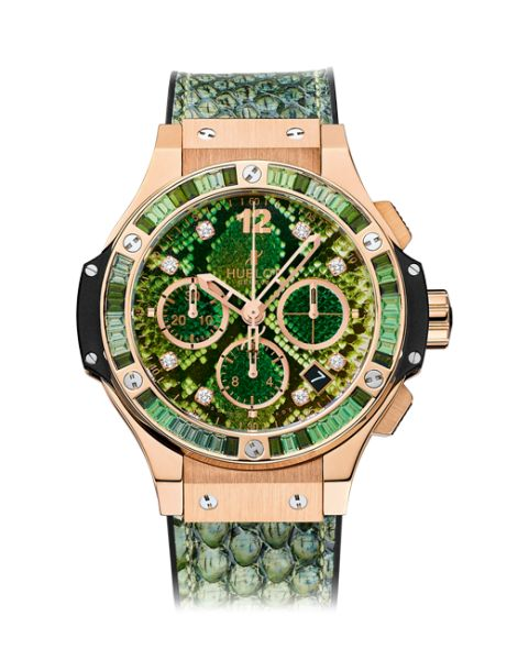 Big Bang Boa Bang Gold Green 41mm - Diamonds Red Gold Chronograph Watch | Hublot | Hublot | Swiss Luxury Watches Horology - The Art of fusion
