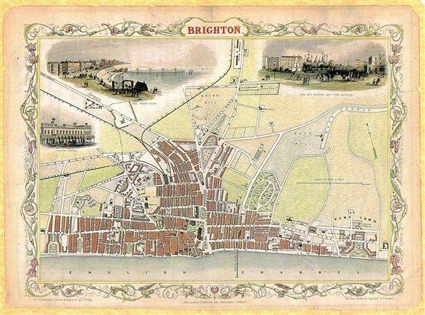 Photo:Brighton 1850 My great-great-grandfather John Tester was born in Trafalgar Street in 1841.