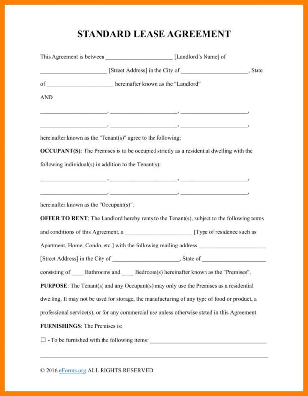 Basic Rental Agreement Fillable Room Rental Agreement