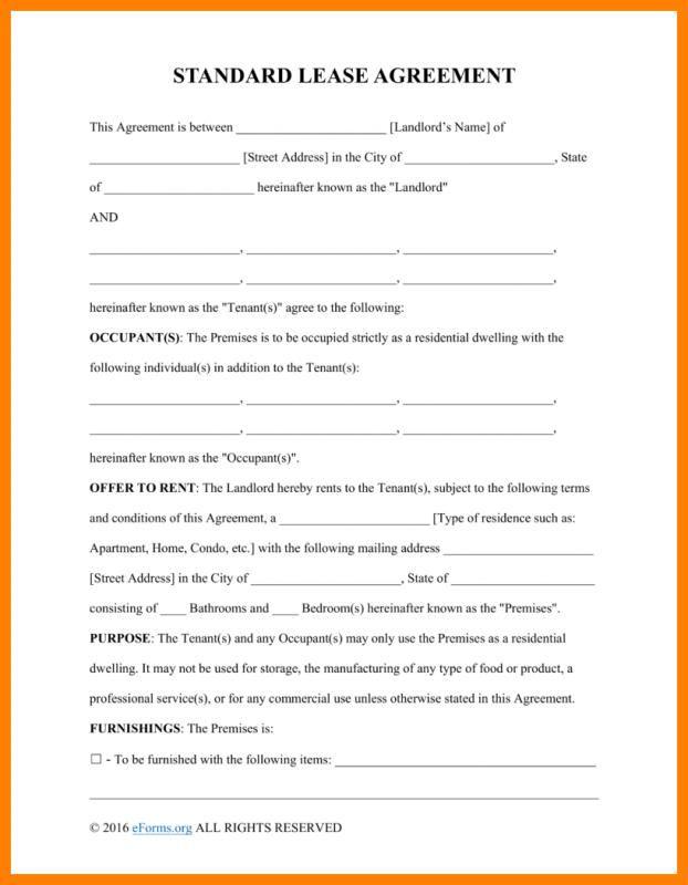 Basic Rental Agreement Lease Agreement Free Printable Room Rental Agreement Lease Agreement