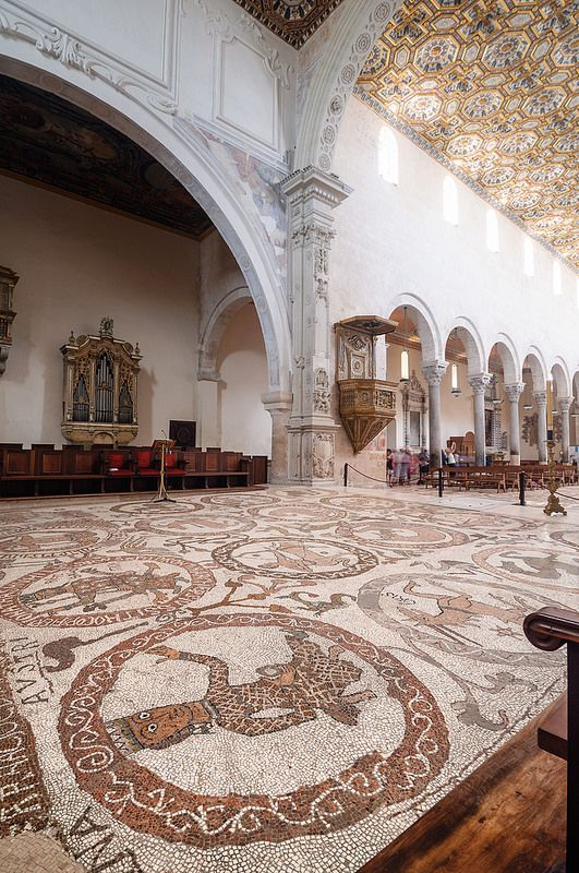 Otranto, the mosaic floor inside the Cathedral  -  Scopri di più sul Salento su http://www.nelsalento.com