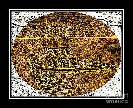 Barbara Griffin - Brass Etching - Oval - Moving House by Water