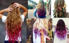 Cool Ways to Color Hair | are some instructions on a great temporary way to dip dye your hair ...