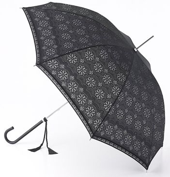 Fulton Luxury and Designer Umbrella - Eliza Devore Lace Black