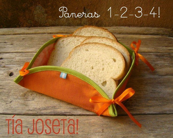 Paneras de tela! Paneras 1-2-3-4! Nuevos colores... ♥ Nuevo post en el blog: Más paneras y mini historia del pan... #postdetiajoseta Decoración textil para el hogar