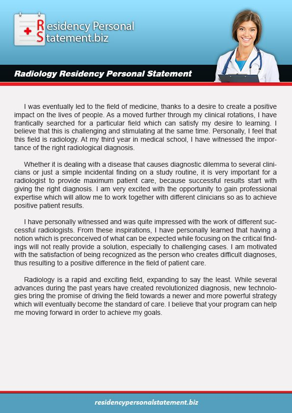 Personal Statement For Radiology Will Get Easier To Write After You