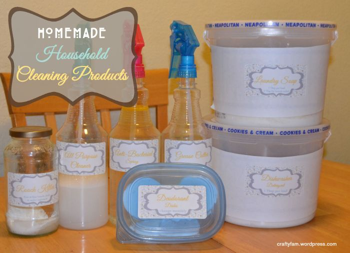 DIY homemade cleaning products, this blogger has a little booklet you can print out!