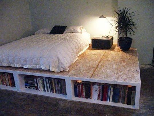 Functional DIY Platform Bed with Storage: DIY Platform Bed With Storage With 3 Foot Deep Drawers ~ noover.com Bedroom Ideas Inspiration