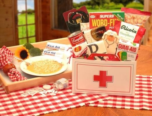 #81391 - First Aid For The Ailing Get Well Gift Box. Do
