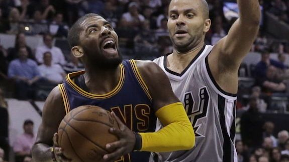 Cleveland Cavaliers point guard Kyrie Irving put on one helluva show in the Cavs overtime win against the San Antonio Spurs.