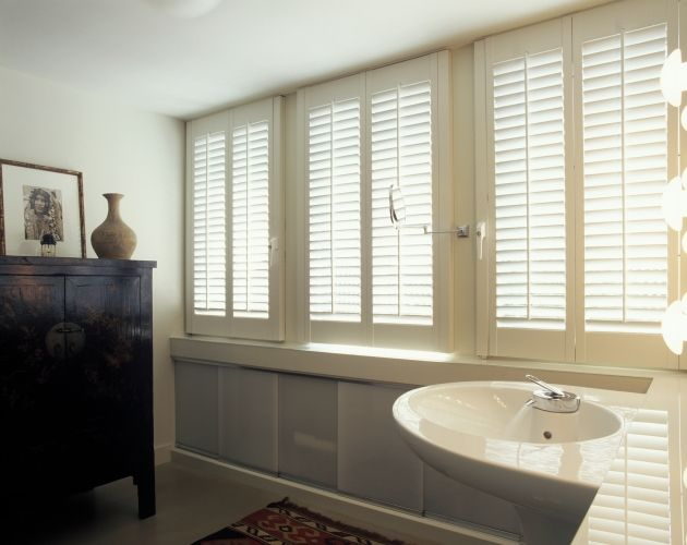 Pvc Shutters Badkamer ~   Shutters  Bathroom on Pinterest  Shutter Blinds, Shutters and