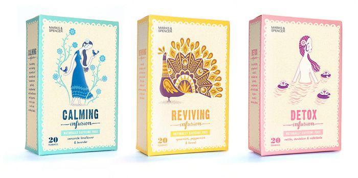 Tea boxes naturally caffeine free_Marks & Spencer. (United Kingdom)