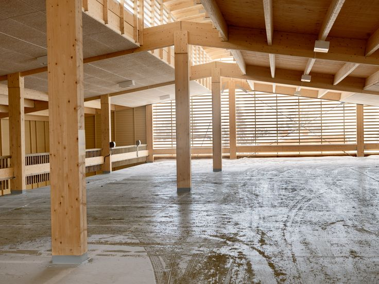 Wood parking garage.  AIX Architecture / Arkitekter Skelleftea Sweden