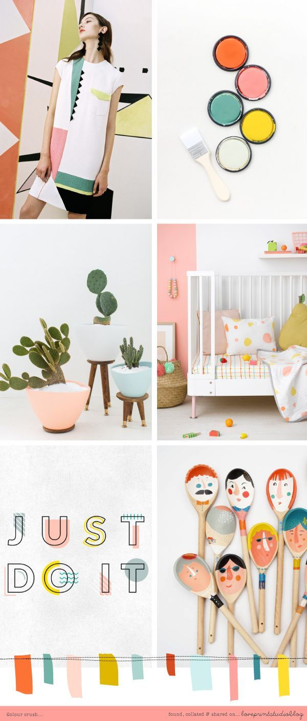 This fresh and zingy colour palette compiled by loveprintstudio is just what I need to cheer me up on a gloomy grey day! love print studio blog: COLOUR CRUSH