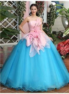 オフショルダー 花飾りの甘え綺麗目ロングドレス 結婚式ドレス 披露宴ドレス