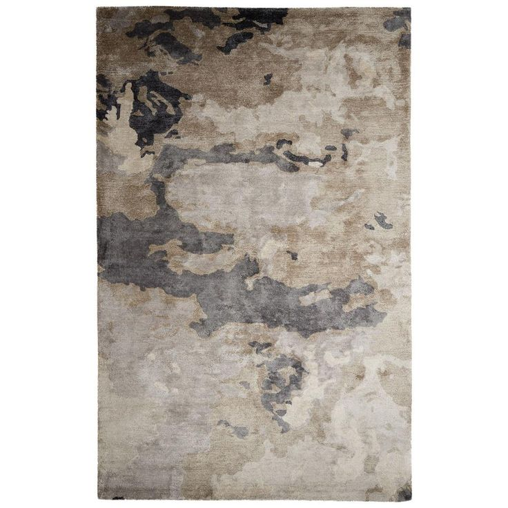 Hand-Tufted Pumice Stone 2 ft. x 3 ft. Abstract Accent Rug, Pumice Stone/Pussywillow Gray