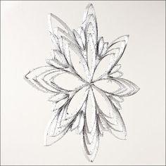 Glittery Snowflake Toilet Paper Roll Ornament | AllFreeChristmasCrafts.com