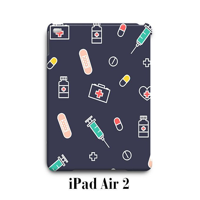 Medical Nurse Pattern iPad Air 2 Case Cover Wrap Around