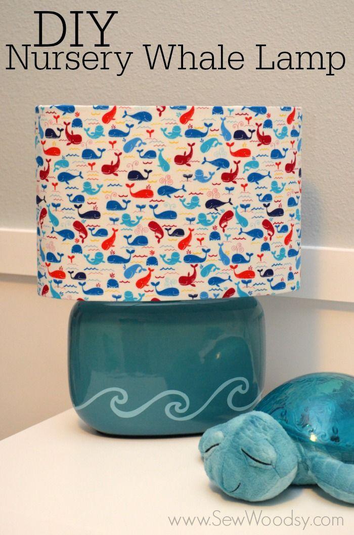 DIY Nursery Whale Lamp + video tutorial created for @Sarah Kellam.com