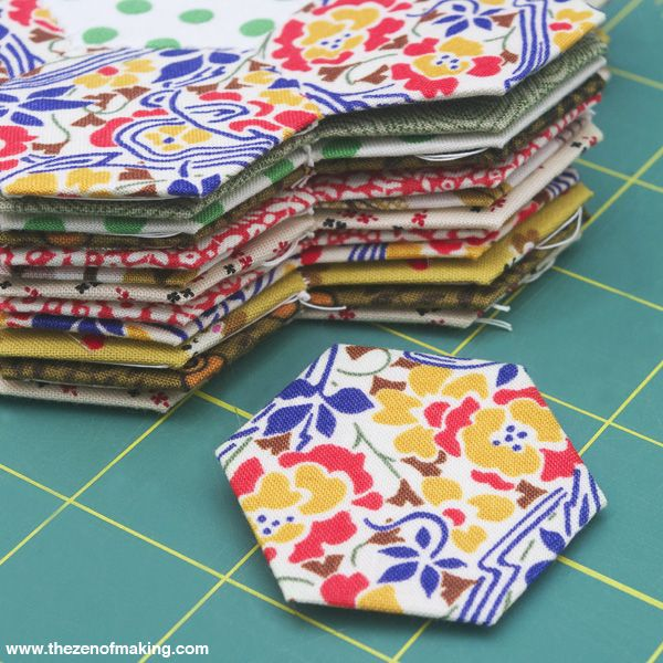 Tutorial: English Paper Piecing, Hexies Part 1