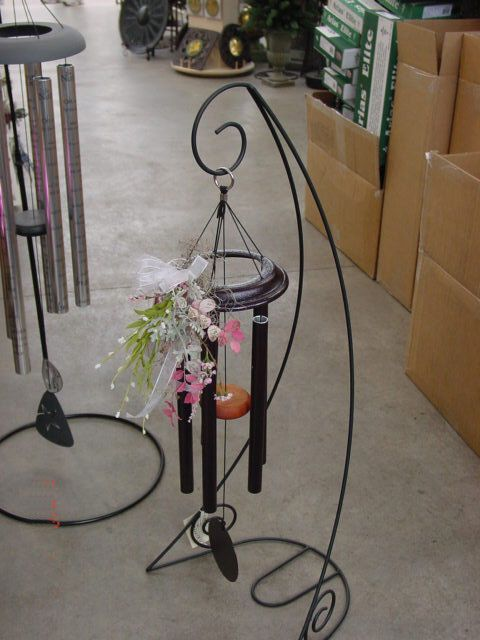 D Exhibition Stand : Small wind chime with silk arrangement on a stand gift