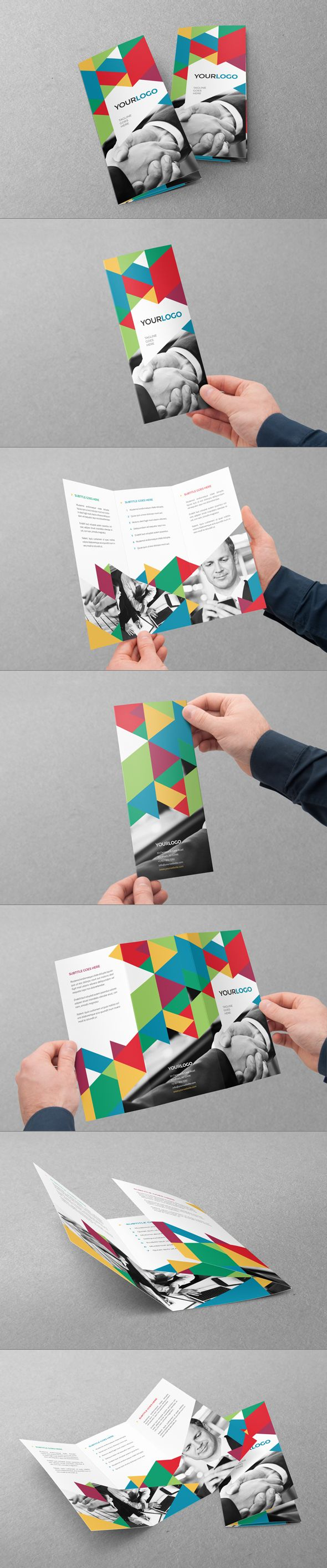 Colorful Business Trifold. Download here: http://graphicriver.net/item/colorful-business-trifold/7687440?ref=abradesign #design #brochure #trifold