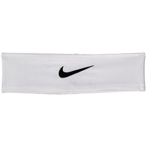 Nike Fury Headband (White/Black) Headband (£10) ❤ liked on Polyvore featuring accessories, hair accessories, headband hair accessories, head wrap hair accessories, sweat wicking headband, nike headband and head wrap headband