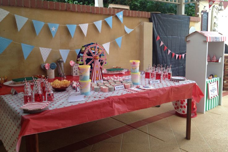 The party food table