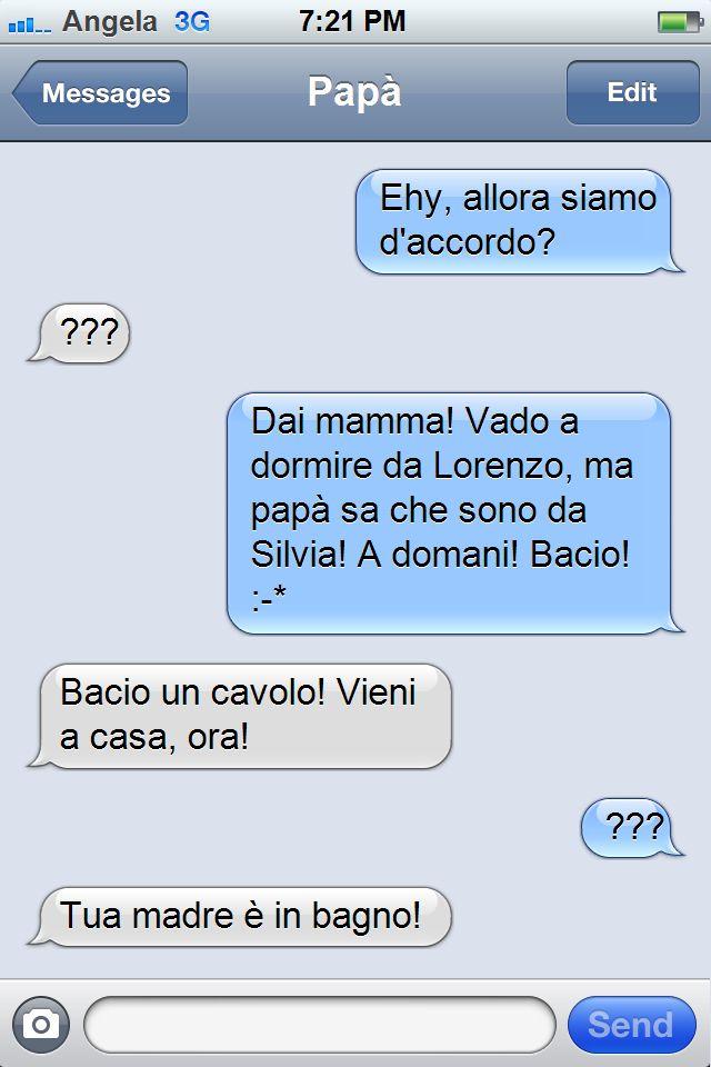 la figlia manda un sms alla madre