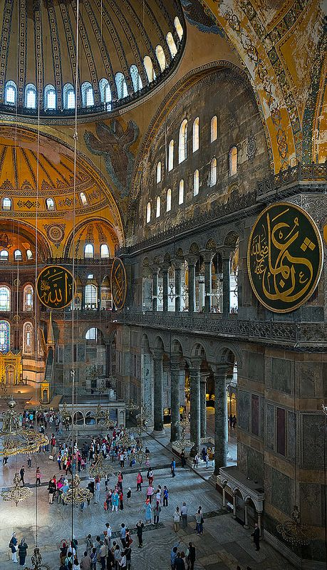 Hagia Sophia, Istanbul, Turkey *Peace between millions of Muslims, Christians…  Vorbild für den Aachener Dom !?