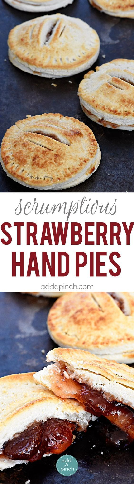 Simple strawberry hand pies are the cutest and simplest little portable pies perfect for sharing and devouring! // addapinch.com