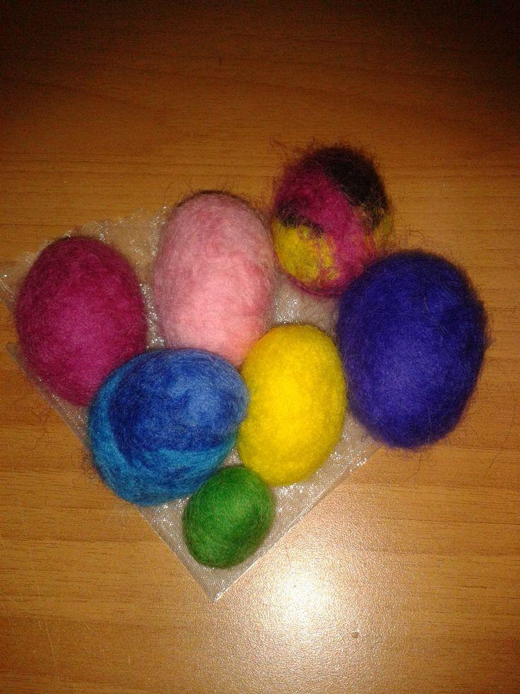 I miei ovetti per Pasqua pronti per essere messi nel cestino