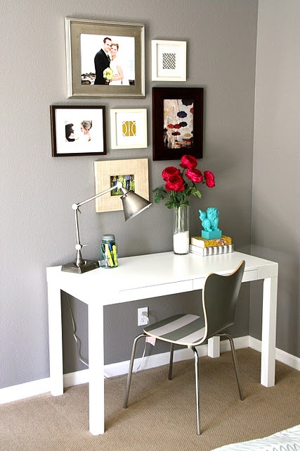 Cute Desk Setup Exactly What I Am Aiming For Livingroom Decor Pinterest Simple