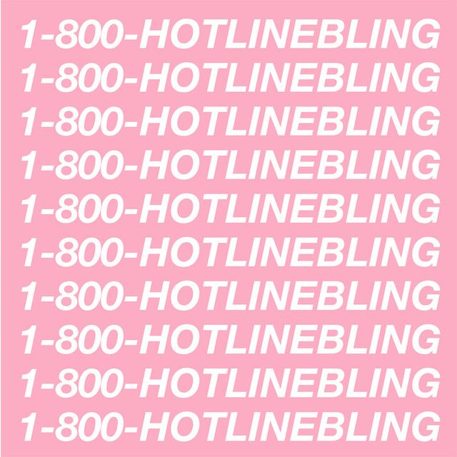 """""""Hotline Bling"""" by Drake was added to my Favoritos playlist on Spotify"""