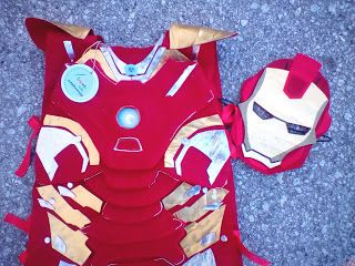 Iron man handmade felt costume for boys