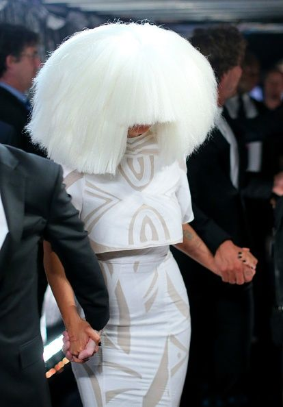 57th GRAMMYs Backstage - Sia backstage at the 57th Annual GRAMMY Awards on Feb. 8 in Los Angeles