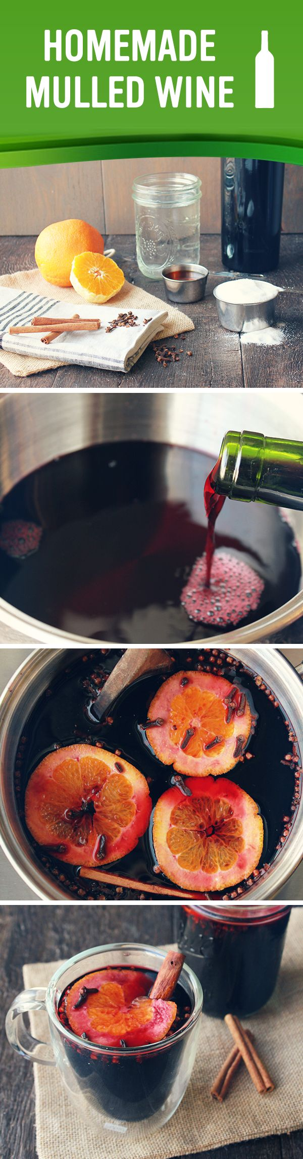 Cozy up with this warm, simple homemade mulled wine on a chilly winter night!