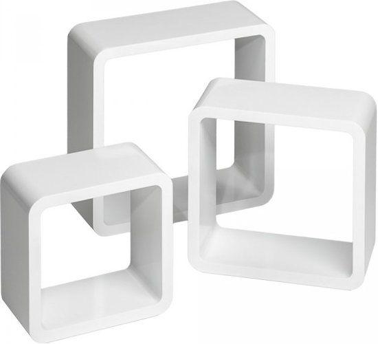 Wandplank Hoogglans Wit.Set Van 3 Wandplanken Renate Hoogglans Wit 401589 Merkloos Een