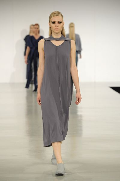 A/W 2013-14 GRADUATE COLLECTION #gfw2013 #graduatefashionweek #suit #womenswear #finalcollection #aw13 #aw14 #minimal #minimalist #lessismore #cashmere #knots #drapery #moulage #slingback #brogue #model #woolcrepe #grey #magnets