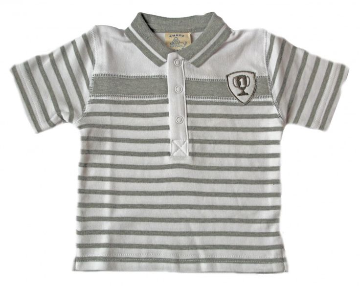 Tuuf's Wold polo grijs/wit