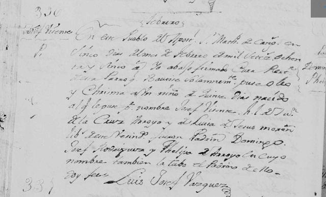 Josef Vicente Arroyo de Jesus - Born Free from Slavery in 1785 #AfricanAncestry #familytree