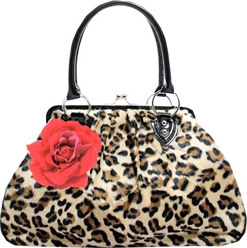 Kiss Lock Leopard Purse