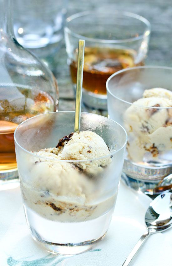 Whiskey & Spiced Walnut Ice Cream from A Spicy Perspective