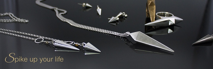 Welcome - Chelsea Rose Design Solid sterling silver spike jewellery necklaces, earrings, rings - Vancouver