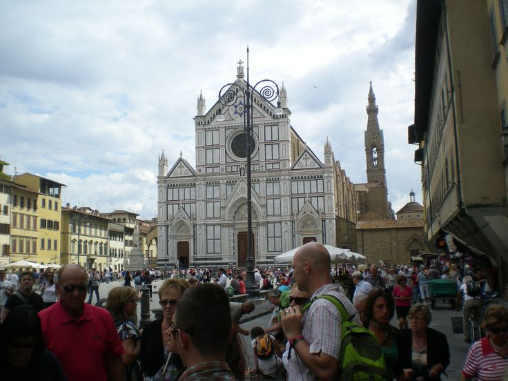 Basilica di Santa Croce. Michelangelo and Galileo are buried here.