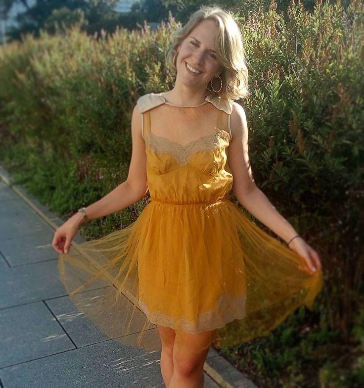 Great Labels  #rodarte #dress #humanadresden #senfgelb #lovelabels #getinspired #thrift #humana_second_hand_germany